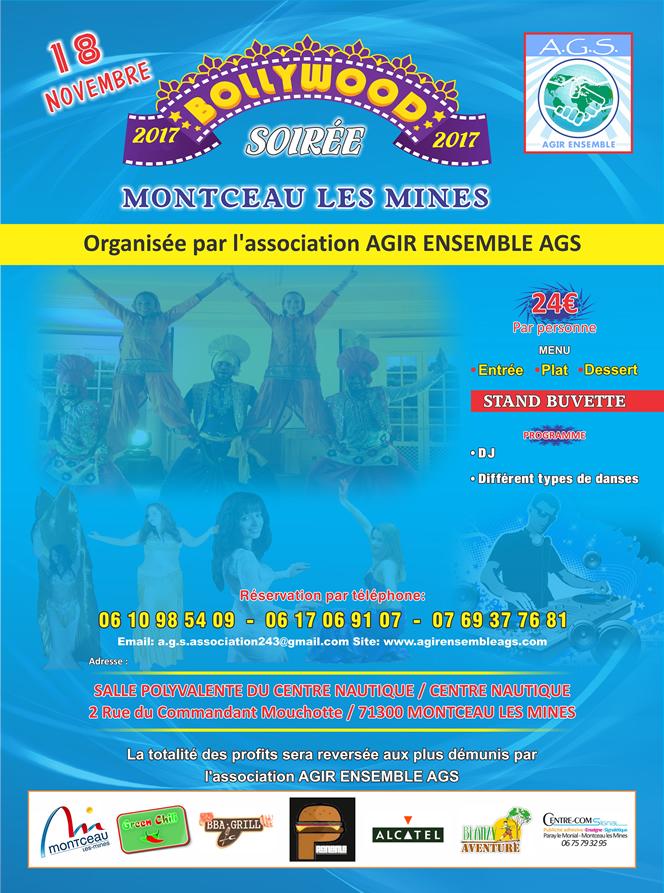 Association Agir Ensemble AGS - Evênement : Soirée Bollywood le 18 Novembre 2017 à Montceau les Mines